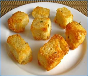 Crouton samples for texture analysis