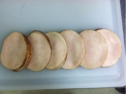 Deli meat slice samples